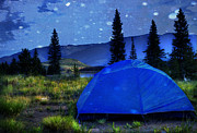 Camping Metal Prints - Sleeping Under the Stars Metal Print by Juli Scalzi