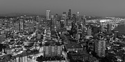 Office Space Prints - Sleepless In Seattle Black and White Print by Heidi Smith