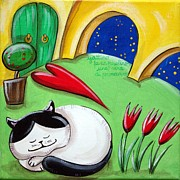 Cat Story Originals - Sleepy Cat by Raffaella Di Vaio