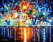 Leonid Afremov - Sleepy Harbor