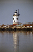 York Beach Prints - Sleepy Hollow Lightouse Print by Skip Willits