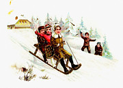 Sleigh Ride Posters - Sleigh Ride Poster by Unknown