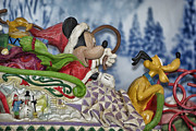 Walt Disney Boardwalk Prints - Sleigh Riding Print by Thomas Woolworth