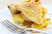 Bake Photos - Slice of apple pie by Elena Elisseeva