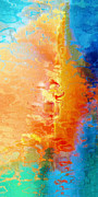 Abstract Art On Canvas Prints - Slice Of Heaven - Abstract Art Print by Jaison Cianelli