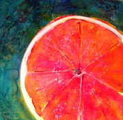 Grapefruit Mixed Media Framed Prints - Slice of Texas Framed Print by Debi Pople