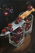 Sliced Originals - Sliced Black Cherries by Rick Liebenow