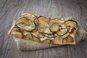 Italian Meal Photo Prints - Sliced pizza with eggplants Print by Sabino Parente