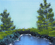 Salt Air Paintings - Slickrock Pond by Jennifer Muller