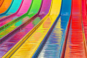 Color Slide Posters - Sliding Into Summer Fun Poster by Heidi Smith