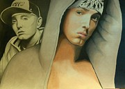Hip Drawings - Slim Shady to Emenem by DeShawn Willis