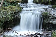Theresa Selley Metal Prints - Slinky Waterfall Metal Print by Theresa Selley