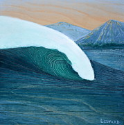 Surfing Art Paintings - Slipstream by Nathan Ledyard