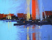 Featured Pastels Posters - Slipway Poster by Tony Allain
