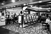 Video Gaming Framed Prints - slot and video game machines in a casino in downtown Las Vegas Nevada USA Framed Print by Joe Fox