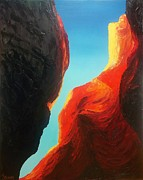 Slot Canyon Painting Framed Prints - Slot Canyon #3 Framed Print by Lisa Lea Bemish