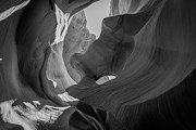 Peter Lik Style Framed Prints - Slot Canyon BW Framed Print by Michael Ver Sprill