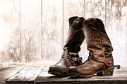 Roper Photos - Slouch Cowboy Boots by Olivier Le Queinec