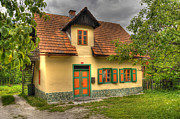 In Pyrography Prints - Slovenian Cottage Print by Don Wolf