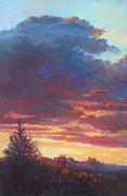 Cape Cod Pastels Originals - Slow Burn by Ed Chesnovitch