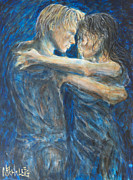 Dancing Couples Paintings - Slow Dancing IV by Nik Helbig