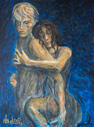 Tango Paintings - Slow Dancing VI by Nik Helbig