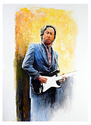 Eric Clapton Painting Posters - Slow Hand Poster by William Walts