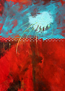 Dark Energy Painting Originals - Slow Travel by Nancy Merkle
