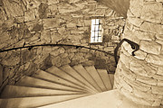 Staircase Railing Prints - Slowly I Turn Print by Trish Tritz