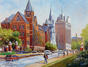 University Blvd Prints - SLU Gate Grand Blvd Saint Louis Print by Irek Szelag