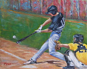 Batter Paintings - Slugger by Martha Manco