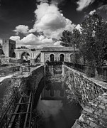 Lock Framed Prints Prints - Sluice Gate Print by Frank  Novak
