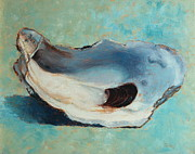 Oyster Paintings - Slurp by Pam Talley
