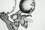 Small Ball Dunking Print by Cepada Cloud