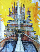 Architecture Mixed Media Originals - Small Bits Of The Universe Making Sense At Random Moments In Time by Mark M  Mellon