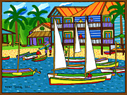 Cedar Key Prints - Small Boat Regatta - Cedar Key Print by Mike Segal