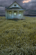 Haunted House Photos - Small Cottage in Storm by Jill Battaglia