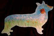 Bride Mixed Media Posters - Small Dog Cut Out With Bride In Wind Poster by Jacqueline Athmann