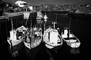 Fishing Creek Posters - small fishing boats in bunbeg harbour county Donegal Republic of Ireland Poster by Joe Fox