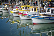 Diminishing Perspective Prints - Small Fishing Boats of San Francisco  Print by George Oze