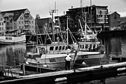 Havn Prints - small local fishing boats in Tromso harbour troms Norway europe Print by Joe Fox