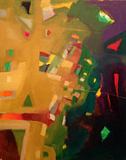 Green And Red Colored Paintings - Small Pleasures 3 by Yahya Batat
