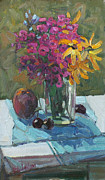 Phlox Painting Prints - Small Still Life Print by Juliya Zhukova