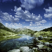 Small Stream In The Mountains Of Pirin Print by Evgeny Kuklev