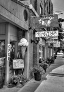 Small Towns Metal Prints - Small Town America 2 BW Metal Print by Mel Steinhauer