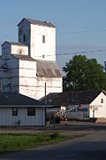 Feed Mill Metal Prints - Small Town Feed Mill Metal Print by Mark McReynolds