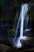 Water Flowing Posters - Small Waterfall Poster by Tom Mc Nemar