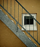 Staircase Railing Framed Prints - Small Window Framed Print by Odd Jeppesen