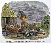 Epidemic Prints - Smallpox Epidemic: Native Americans Print by Granger