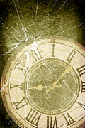 Broken Art - Smashed Clock Face by Christopher and Amanda Elwell